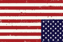 American Flag Tattered - Upside Down